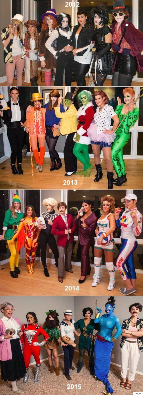 Group Halloween Costume Ideas 7 Women Dress Up As One Actor