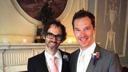 Benedict Cumberbatch Dresses Up For Friend's