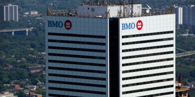 The Bank of Montreal headquarters building stands in Toronto, Ontario, Canada, on Tuesday, July 19, 2011....