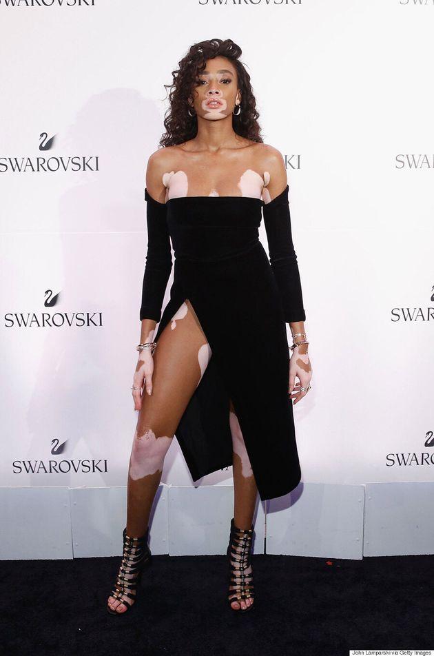 Winnie Harlow Slays In LaQuan Smith Gown At Swarovski's #BeBrilliant
