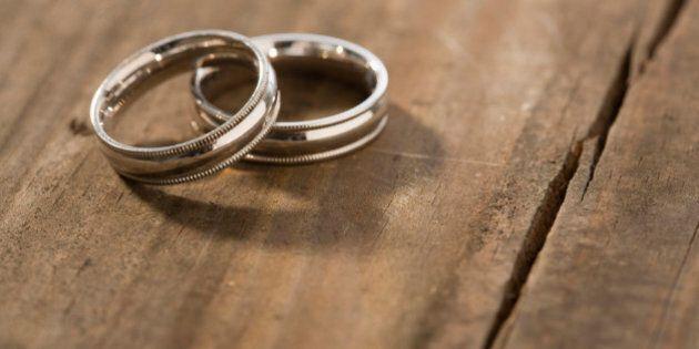 Wedding rings on