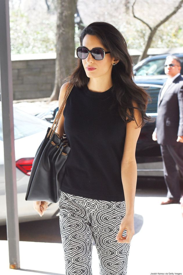 Amal Clooney's Black And White Ensemble Is Wonderfully