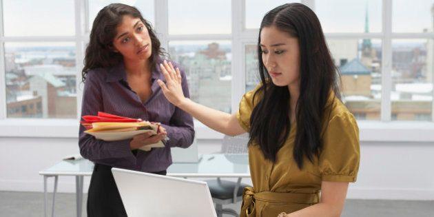 Korean businesswoman refusing to speak to