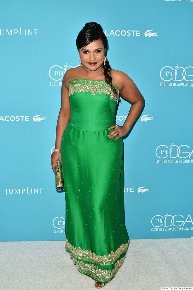 Mindy Kaling Channels Bollywood In Gorgeous Green