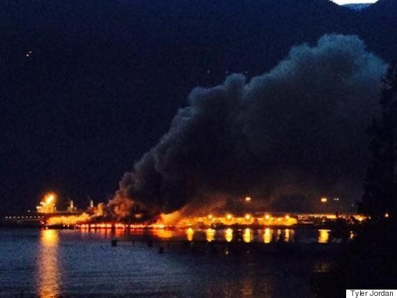 Squamish Fire Sends Plumes Of Smoke Over