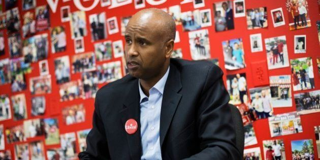 TORONTO, ON - OCTOBER 21: Ahmed Hussen, who was just elected to the House of Commons for York South-Weston,...