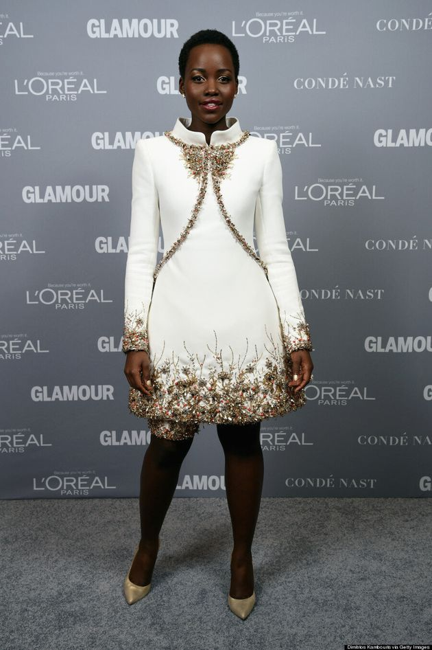 Lupita Nyong'o Brings The Drama To Glamour Magazine's Red