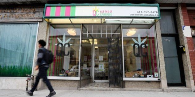 TORONTO, ON - APRIL, 28 The Queens of Cannabis has been open for 2 months in the Bloor and Ossington...