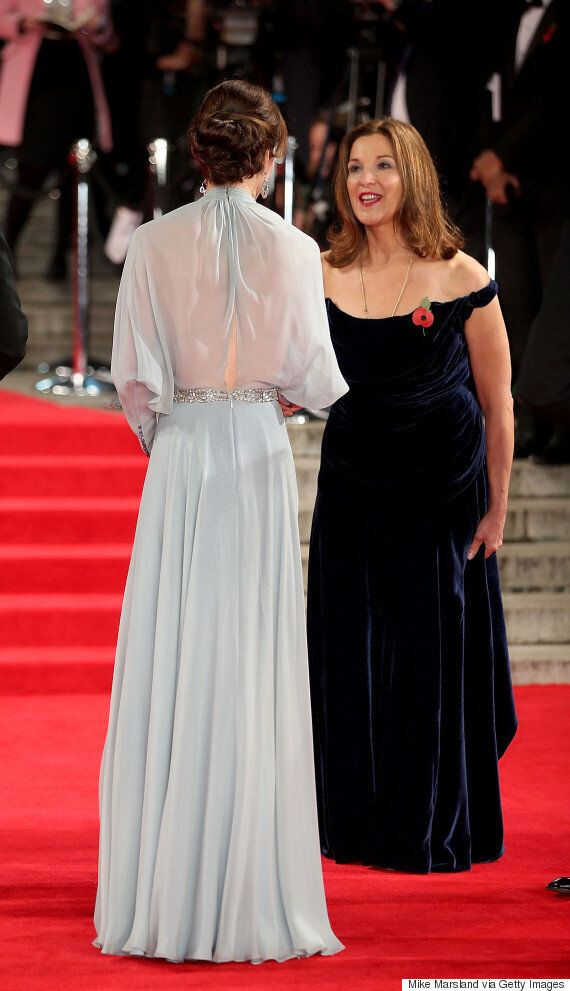 Kate Middleton Stuns In Blue Gown At James Bond 'Spectre'