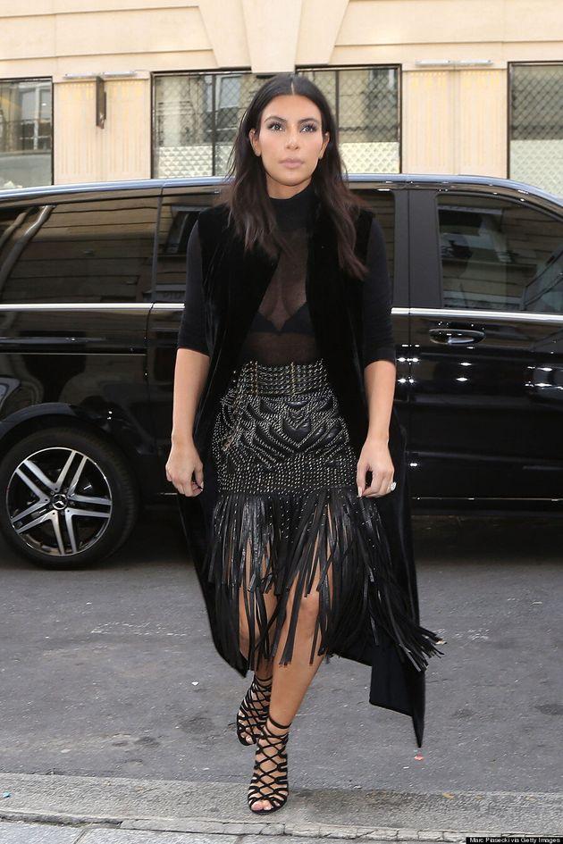 Kim Kardashian's Sheer Jumpsuit Overshadows Paris Fashion