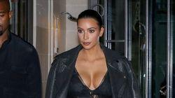 Kim Kardashian Makes A Statement In Sheer