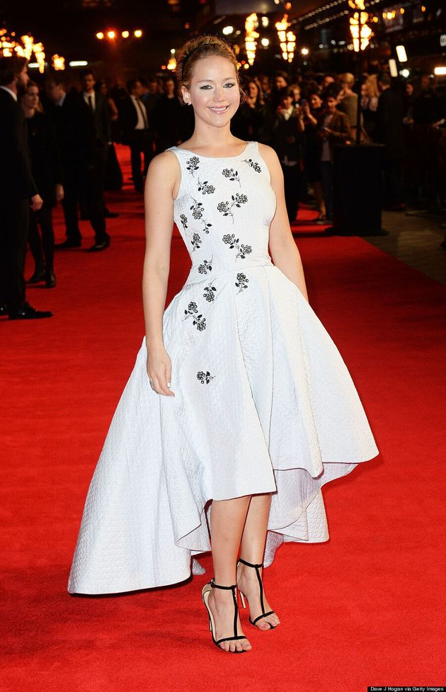 Jennifer Lawrence Lets It All Hang Out At 'Hunger Games: Mockingjay'