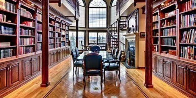 Rocky View County Mansion Comes With 2-Storey Library And Private Island