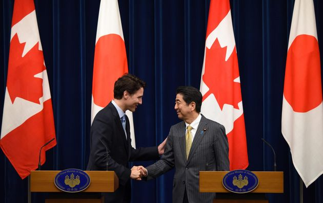 Justin Trudeau, In Japan, Pitches Automakers On Investing In