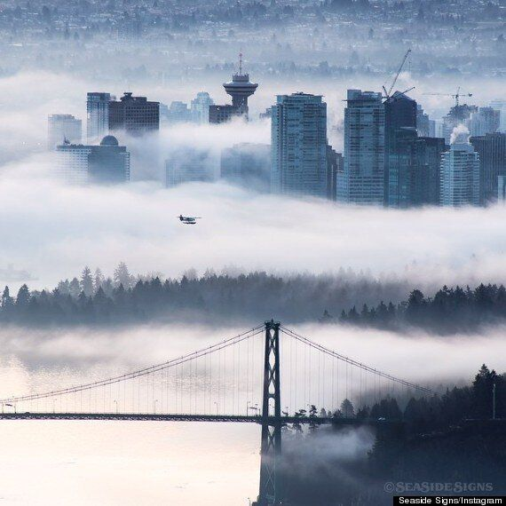 Vancouver Fog Cancels Flights But Makes For Gorgeous
