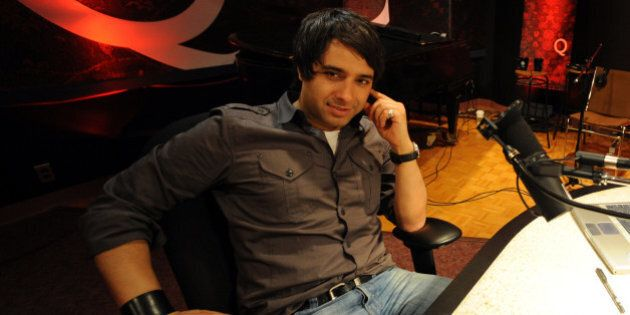 May0609RE17156131.Photos of CBC's Jian Ghomeshi at CBC in his office and in his studio as well as portrait.Note.Sunday...