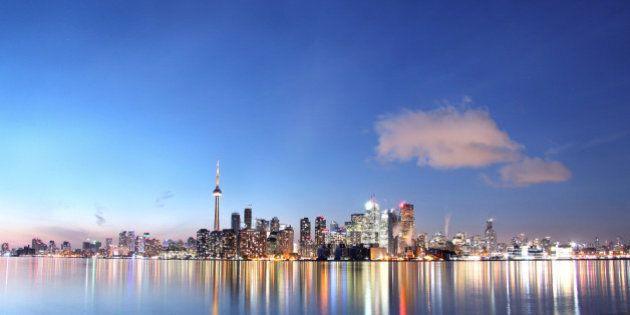 panorama of Toronto at