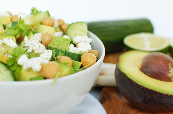 Easy, Healthy, Delicious Lunch for On-the-Go: Chickpea, Avocado & Feta