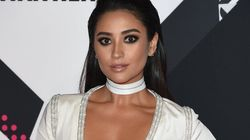 Shay Mitchell Takes The Plunge With Daring Gown At MTV