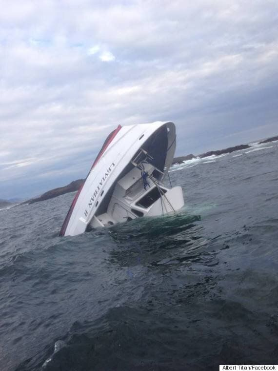 Whale-Watching Boat Sinks Near Tofino,