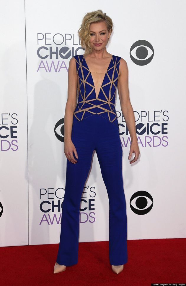 Portia de Rossi's People's Choice Awards Jumpsuit Steals The Red