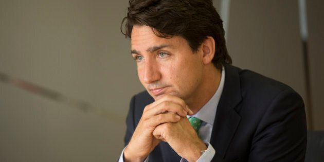 TORONTO, ON - JUNE 25: Liberal leader Justin Trudeau visited the Toronto Star to speak with the editorial...
