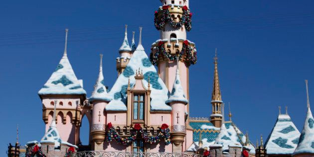 The Magic Castle stands at Walt Disney Co.'s Disneyland Park, part of the Disneyland Resort, in Anaheim,...