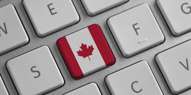 Canada flag on a