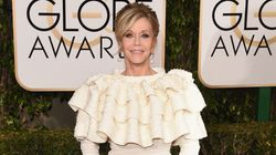 Jane Fonda's Ruffle Dress Falls Victim To The