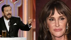 Ricky Gervais Opens Golden Globes With Caitlyn Jenner
