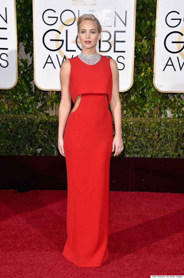 Jennifer Lawrence Dazzles At 2016 Golden Globes In