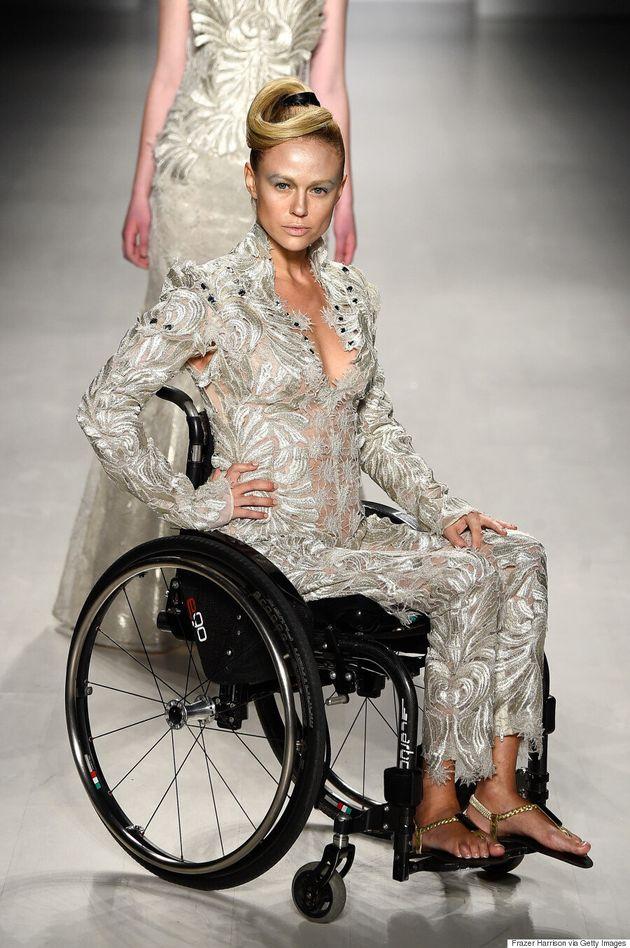 Disabled Models Hit The Runway At New York Fashion
