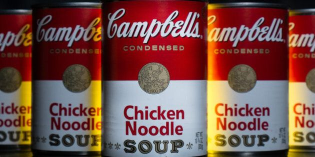 FILE - In this Wednesday, Jan. 8, 2014, file photo, cans of Campbell's soup are photographed in Washington....