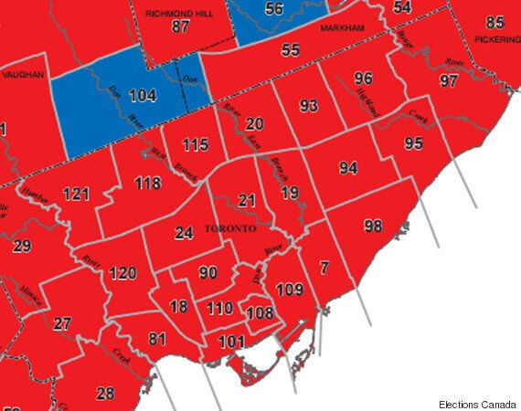 Canada Election Map, Before And After Canadians