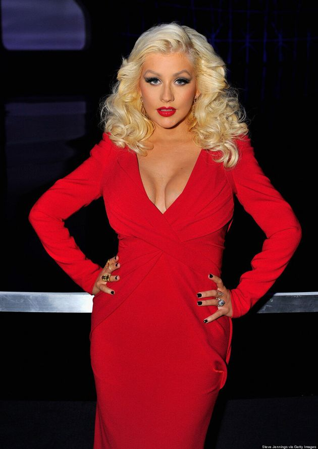 Christina Aguilera's Post-Baby Red Carpet Return Is