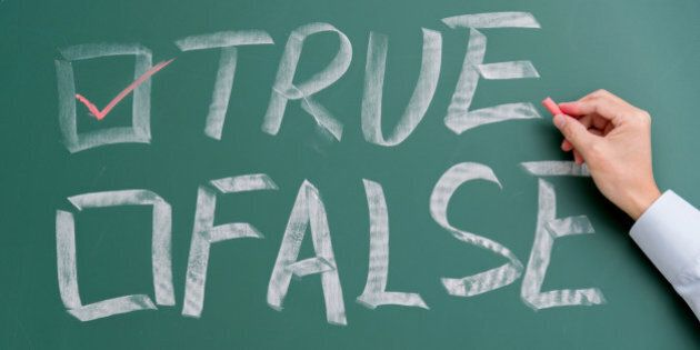 True and false checkboxes on