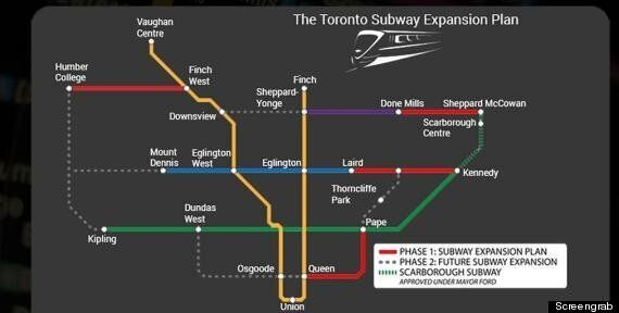 Doug Ford Loves Subways. Spelling? Not So