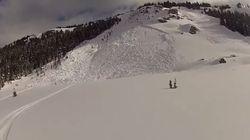 Watch A Banff Skier Escape An Avalanche He Triggered