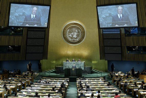 Stephen Harper Mocked Over Photos Of Empty Seats At UN
