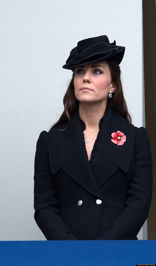 Kate Middleton Is Appropriately Sombre At Remembrance