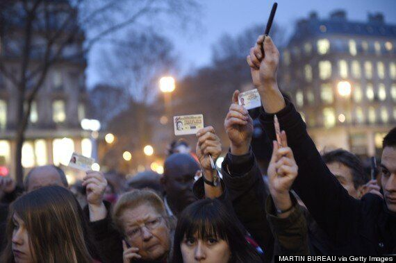 Crowds Across France Hold Up Pens In Moving Demonstrations For Free Speech