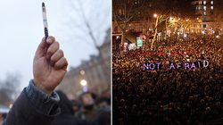 Crowds Across France Hold Up Pens In Moving Demonstrations For Free