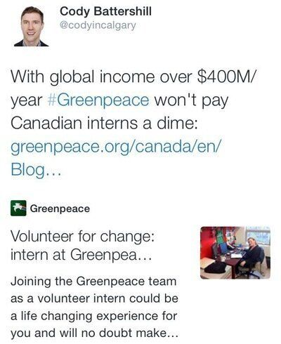 Beware of Greenpeace's Plea for 'Volunteer