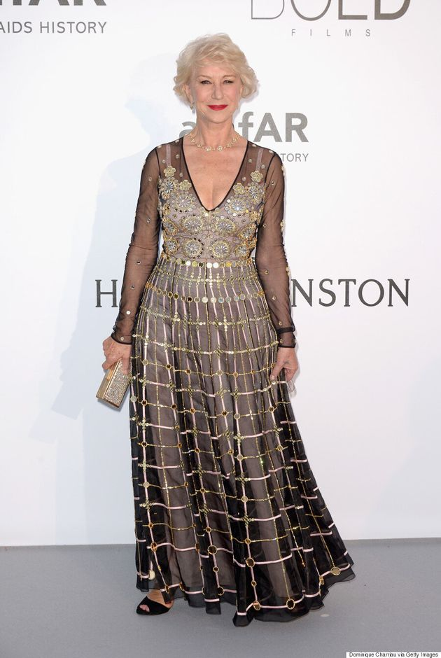 Cannes amfAR Gala 2016: Helen Mirren Makes A Statement in Sheer Temperley London