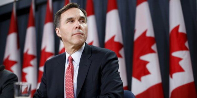 Canada's Finance Minister Bill Morneau takes part in a news conference in Ottawa, Canada, December 7,...