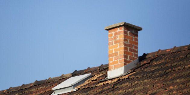 Roof detail, brick