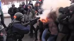 Quebec Protester Shot In Face With Tear Gas At Anti-Austerity