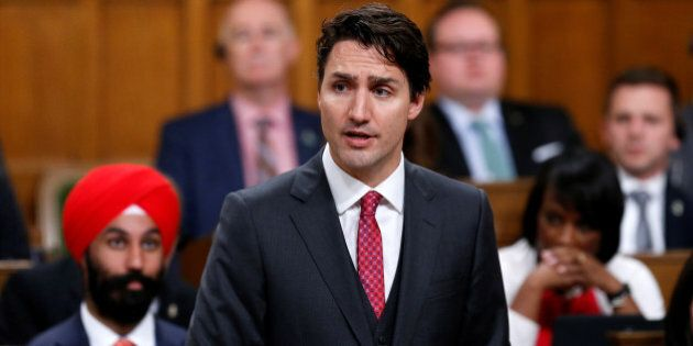 Canada's Prime Minister Justin Trudeau delivers a formal apology for the Komagata Maru incident in the House of Commons on Parliament Hill in Ottawa, Canada, May 18, 2016. REUTERS/Chris Wattie
