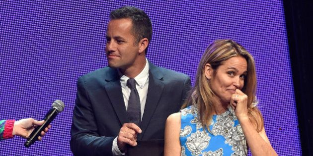 NASHVILLE, TN - MAY 31: Host Kirk Cameron and wife actress Chelsea Noble speak onstage during the 3rd...