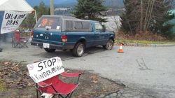 Kinder Morgan Pipeline Protesters Set Up New